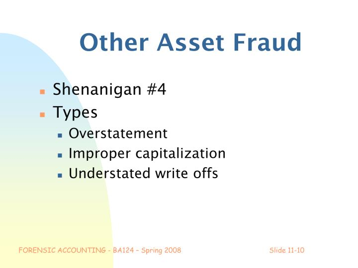 Other Asset Fraud