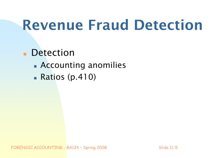 Revenue Fraud Detection