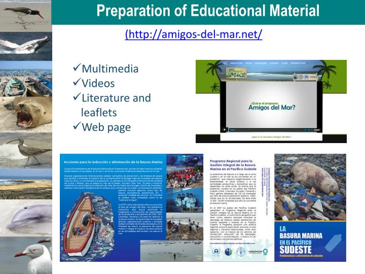 Preparation of Educational Material