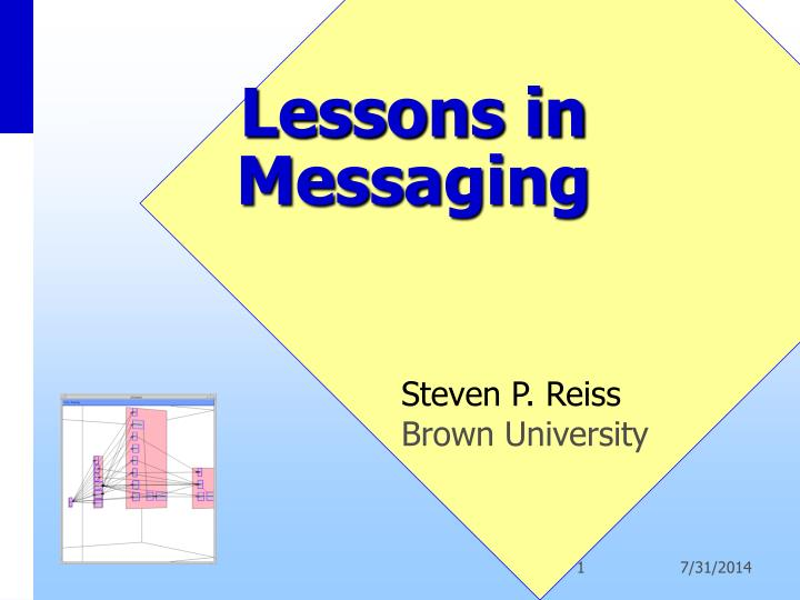 Lessons in messaging