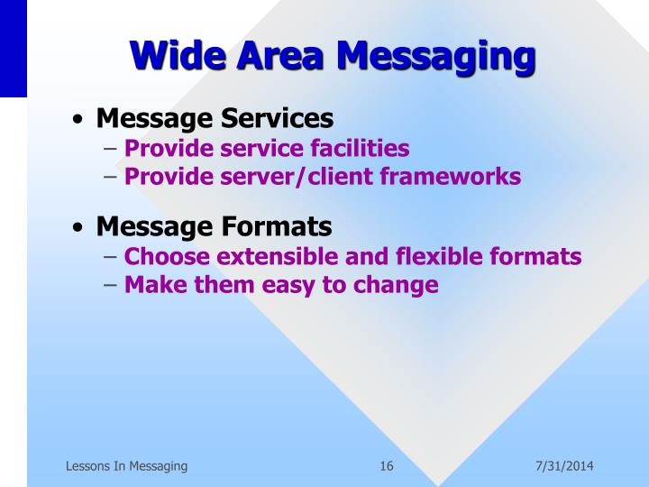 Wide Area Messaging