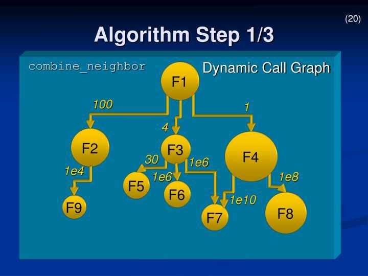 Algorithm Step 1/3