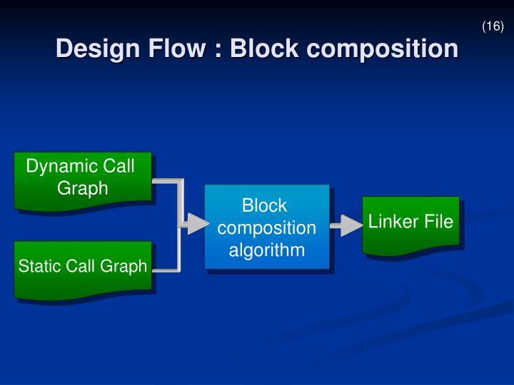 Design Flow : Block composition