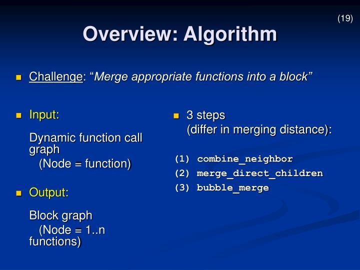 Overview: Algorithm