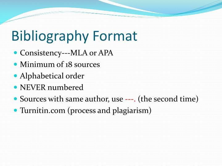 Bibliography Format