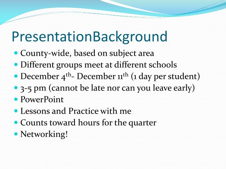 PresentationBackground