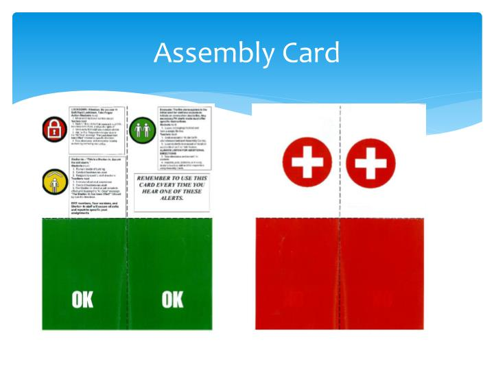 Assembly Card