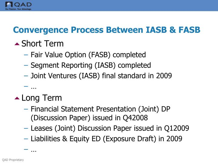 difference between fasb and iasb essay Differences between gaap and ifrs the international accounting standards board (iasb) and the financial accounting standards board (fasb) are working.