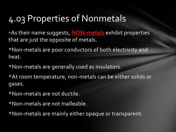 4.03 Properties