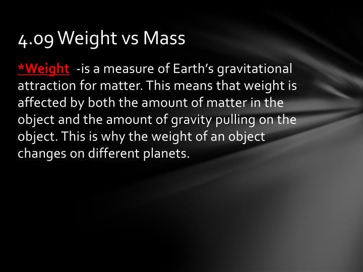 4.09 Weight