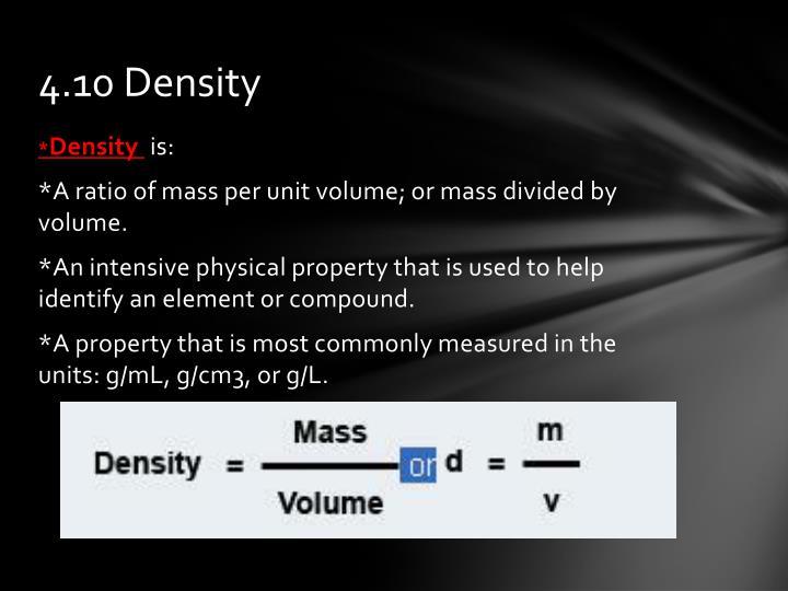 4.10 Density