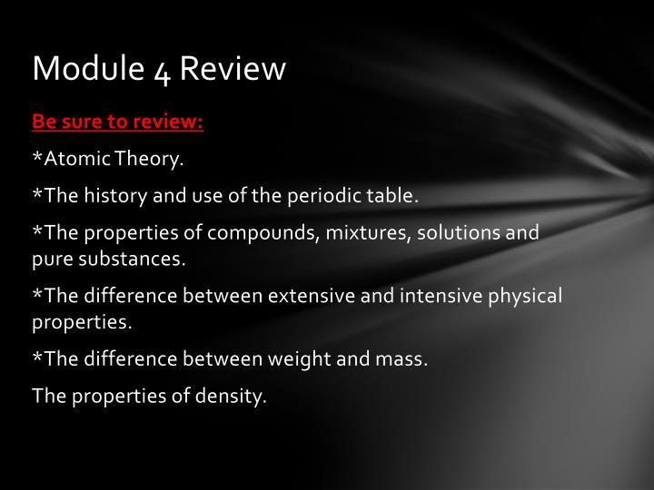 Module 4 Review