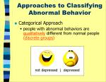 approaches to classifying abnormal behavior