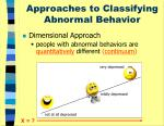approaches to classifying abnormal behavior1