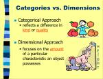 categories vs dimensions