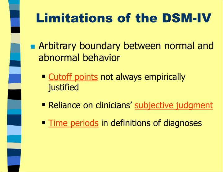 Limitations of the DSM-IV