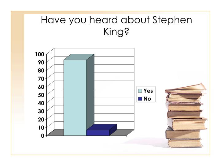 Have you heard about Stephen King?