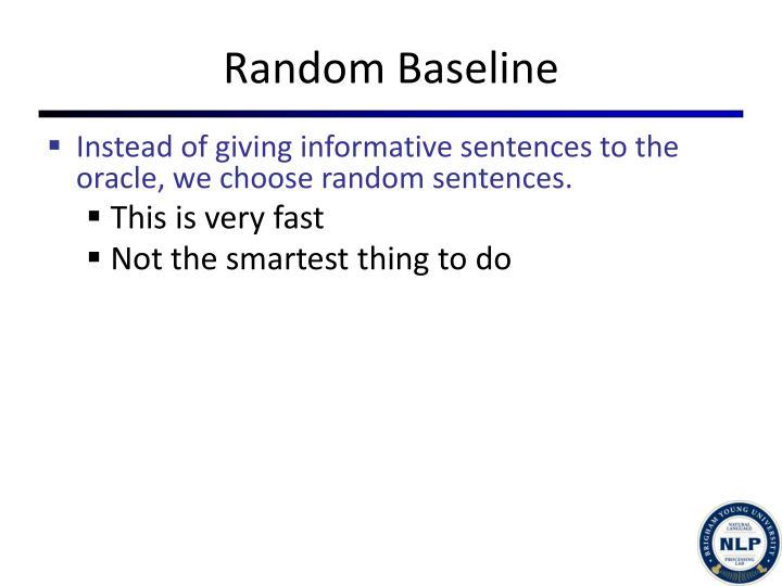 Random Baseline
