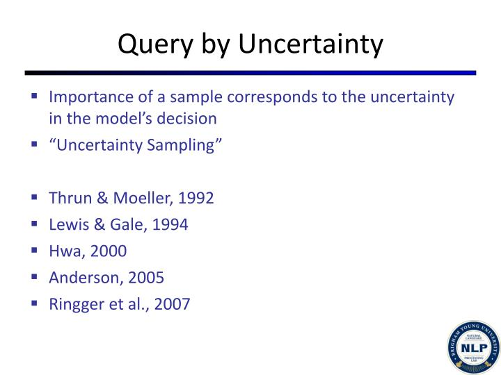 Query by Uncertainty