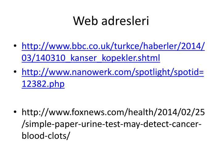 Web adresleri