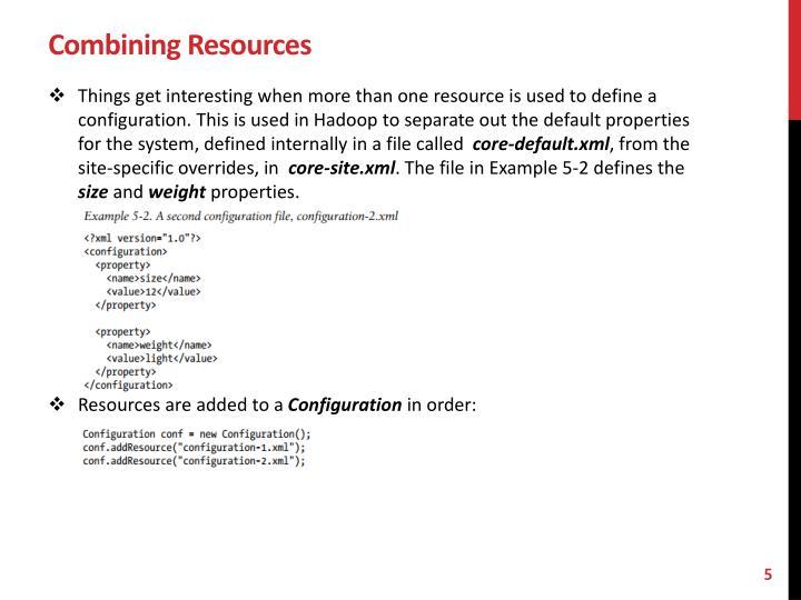 Combining Resources