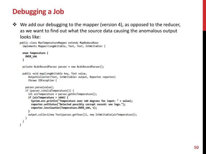 Debugging a Job