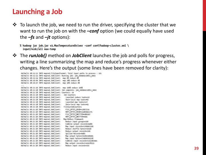 Launching a Job