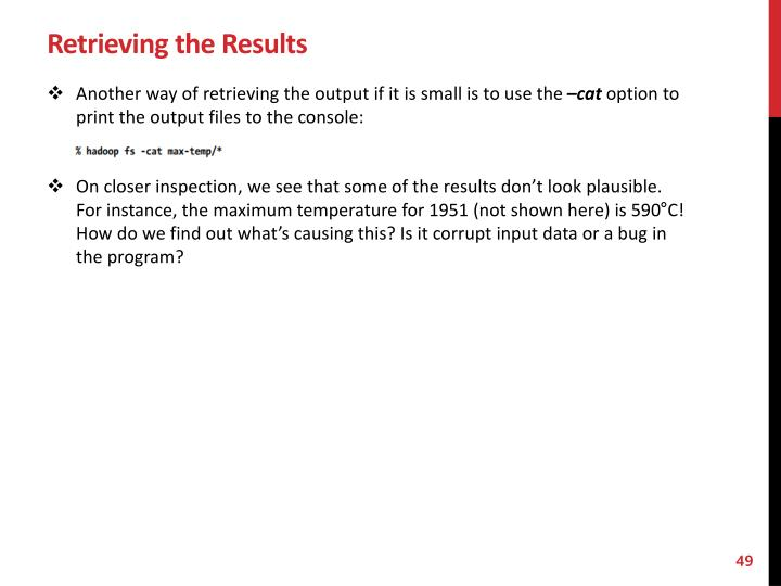 Retrieving the Results