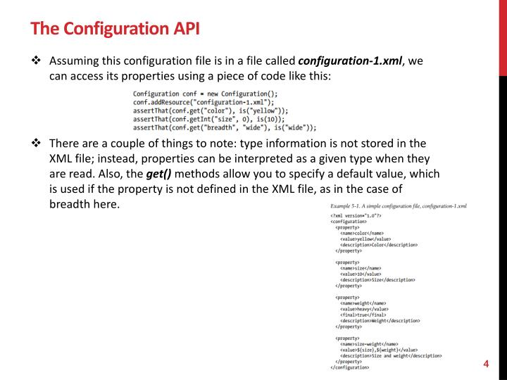 The Configuration API