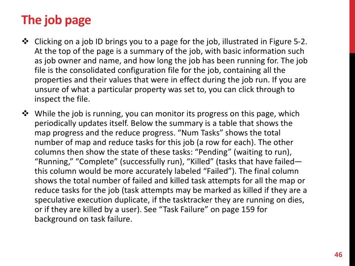 The job page