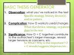 basic thesis generator