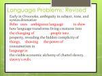 language problems revised