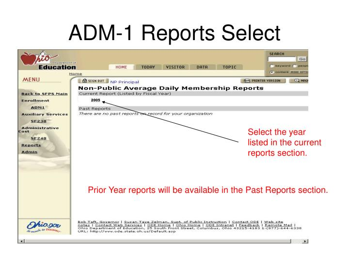 ADM-1 Reports Select