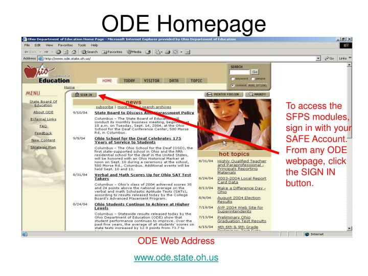 ODE Homepage