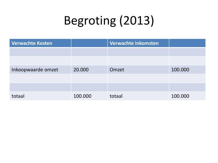 Begroting (2013)