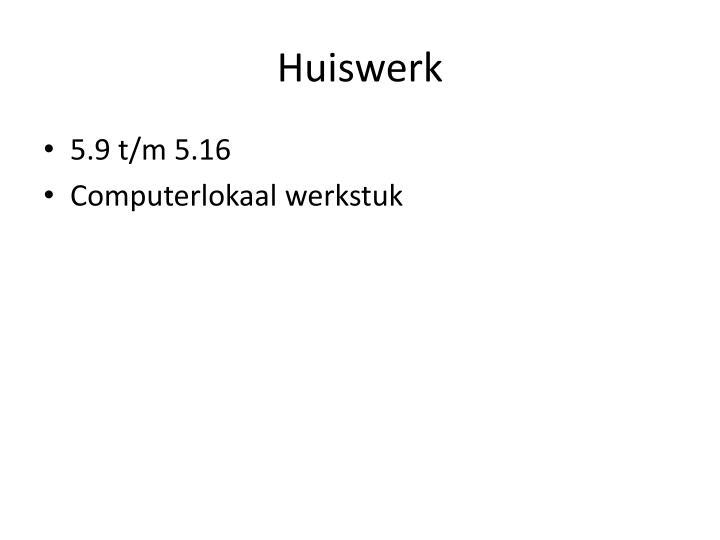 Huiswerk