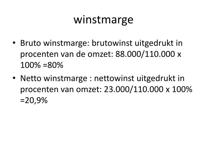 winstmarge
