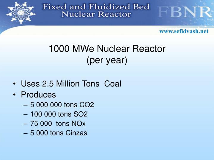1000 MWe Nuclear Reactor