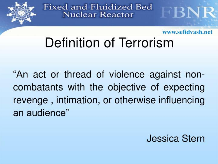 Definition of Terrorism