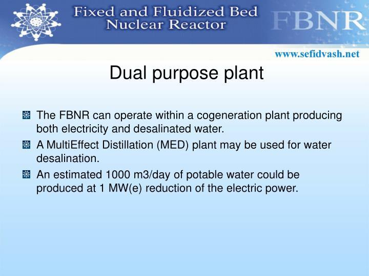 Dual purpose plant