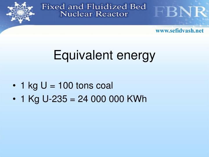 Equivalent energy