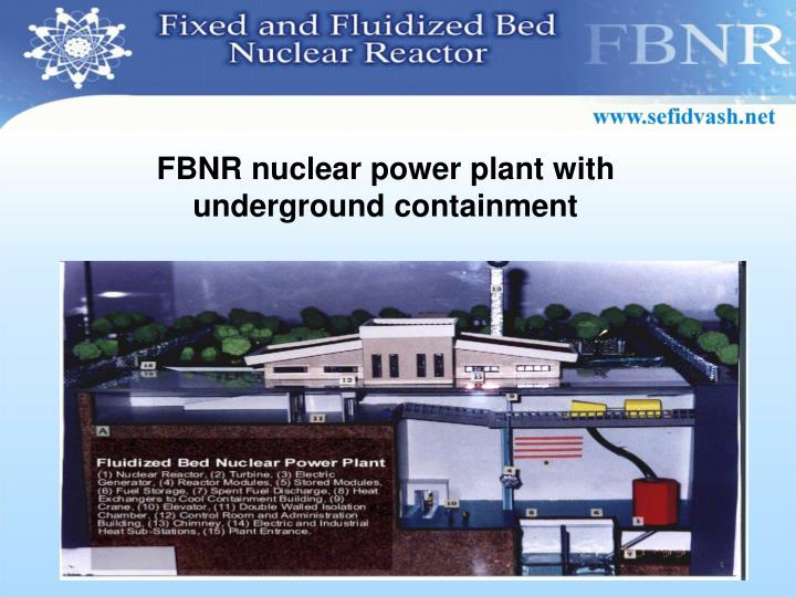 FBNR nuclear power plant with underground containment