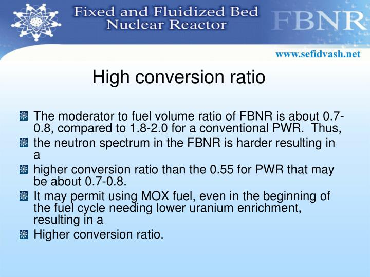 High conversion ratio