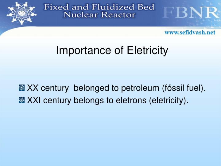 Importance of Eletricity