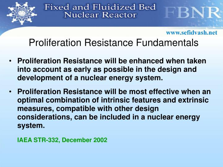 Proliferation Resistance Fundamentals