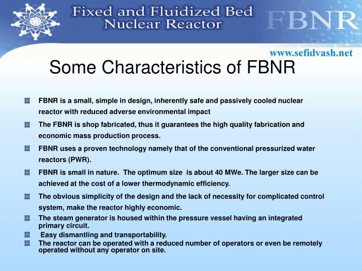Some Characteristics of FBNR