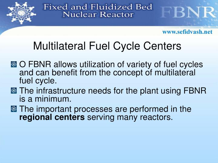 Multilateral Fuel Cycle Centers