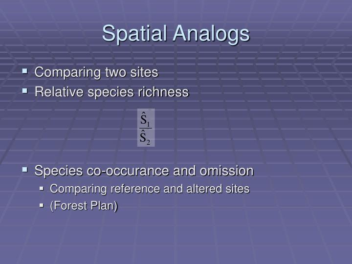 Spatial Analogs