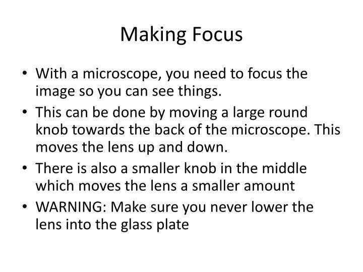 Making Focus
