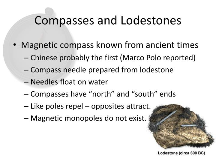 Compasses and lodestones